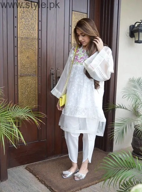 Latest Pakistani White party wear dresses 2016 (16)