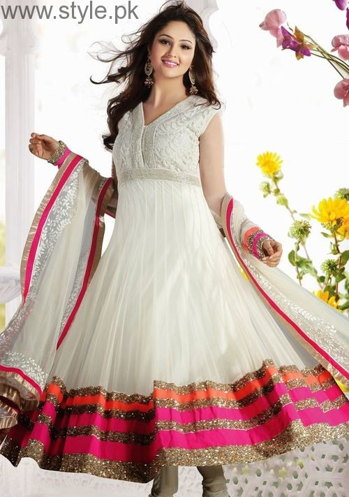 Latest Pakistani White party wear dresses 2016 (17)
