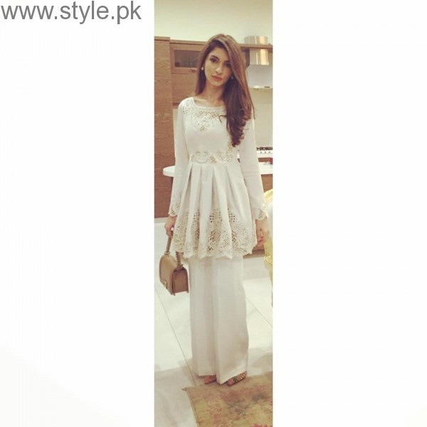 Latest Pakistani White party wear dresses 2016 (3)