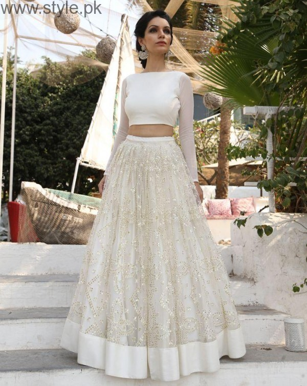 Latest Pakistani White party wear dresses 2016 (5)