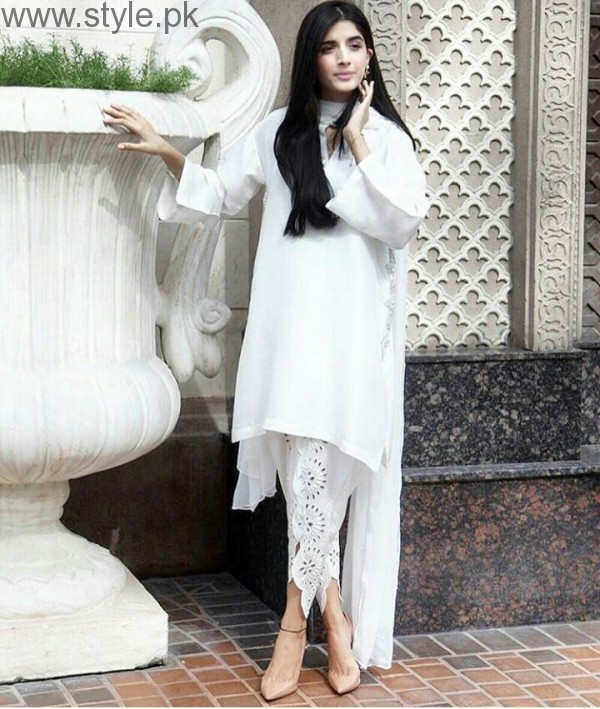 Latest Pakistani White party wear dresses 2016 (8)