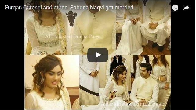 furqan qureshi and sabrina naqvi nikah video