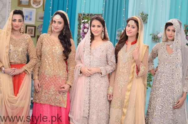 Bridal Dresses in Nida Khan Show