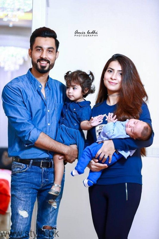 Dua Malik and Sohail Haider Babies Ali Haider and Ziyara