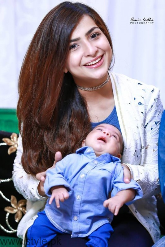 Dua Malik with Baby Boy Ali Haider