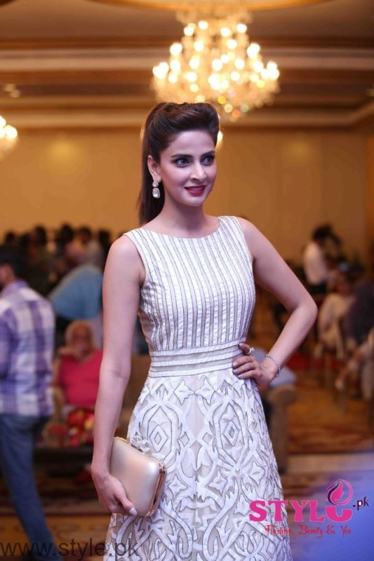 Saba Qamar at Media meet held for Lahore se Aagey