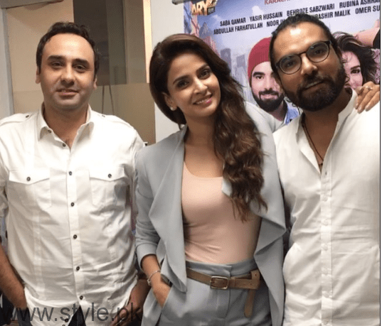 See Saba Qamar during promotion of Lahore Se Agay
