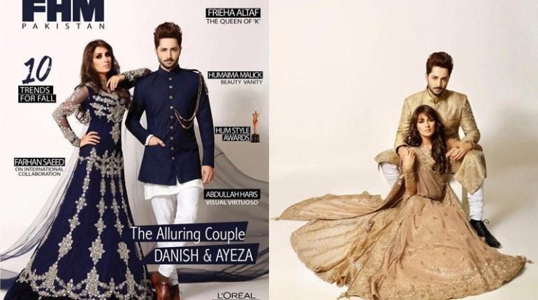 Ayeza Khan And Danish Taimoor Photoshoot for FHM Pakistan