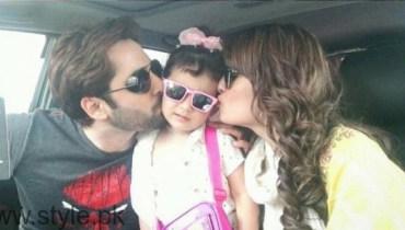 Ayeza Khan and Danish Taimoor With Their Daughter