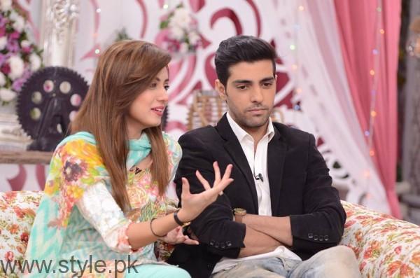See Furqan Qureshi with his Wife Sabrina in Good Morning Pakistan