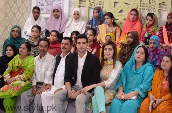 Furqan Qureshi with his Wife Sabrina in Good Morning Pakistan (14)