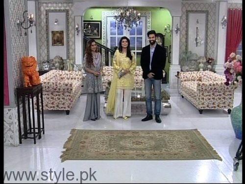 Noor Hassan and Indian Actress Sara Khan in Good Morning Pakistan (4)