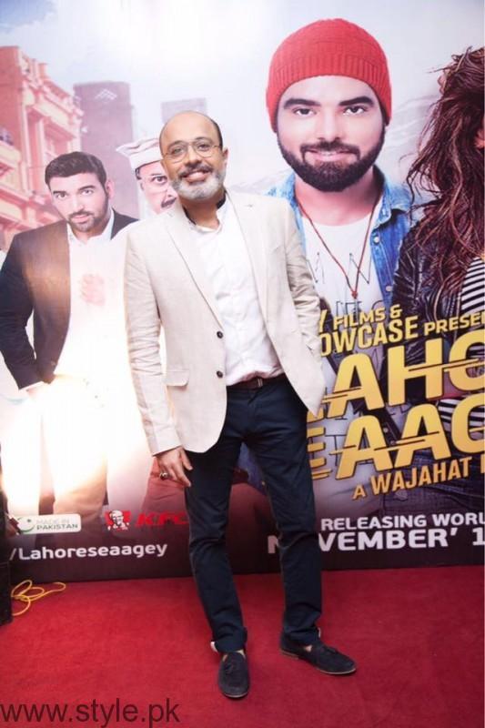 Noor ul Hasan at Lahore Se Aagey premiere