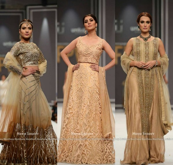 Pakistani Golden Party wear Dresses (5)