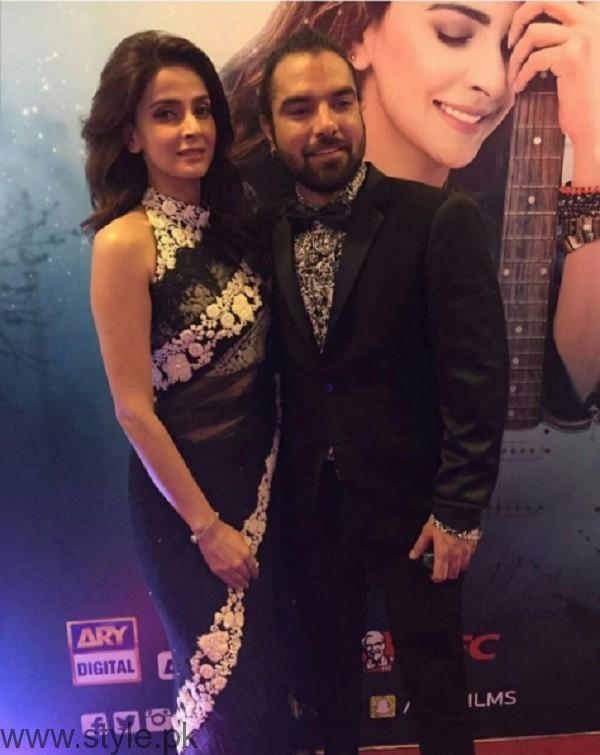 Saba Qamar and Yasir Hussain At Lahore Se Aagey Premiere Karachi