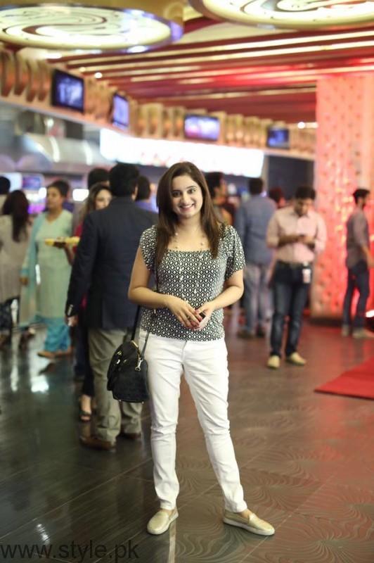 Sophiya Anjam at Lahore Se Aagey premiere