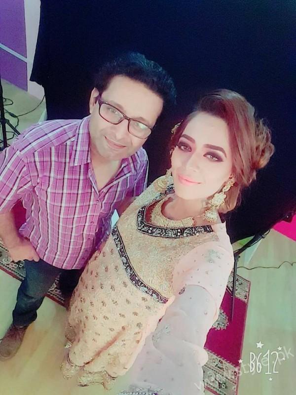 Asim Sheikh with Feroza Mohammad