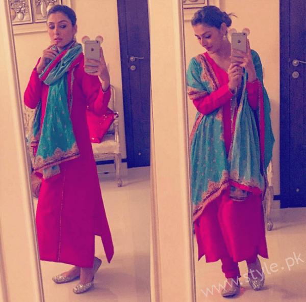 Ayeza Khan Desi Outfit