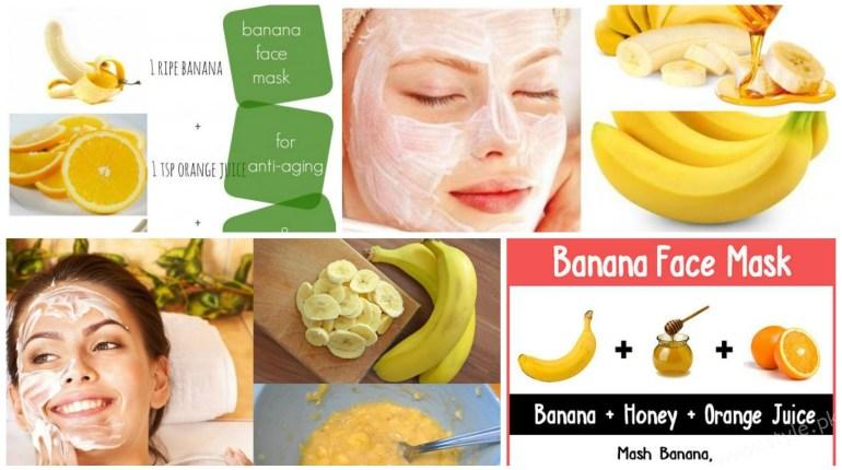 Homamade banana face masks