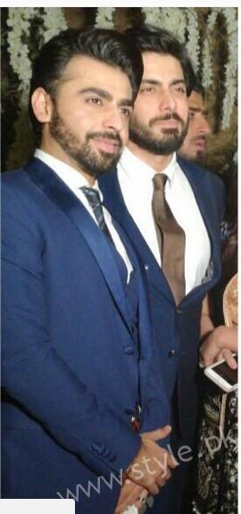 Fawad Khan at Urwa Hocane and Farhan Saeed's Wedding (3)