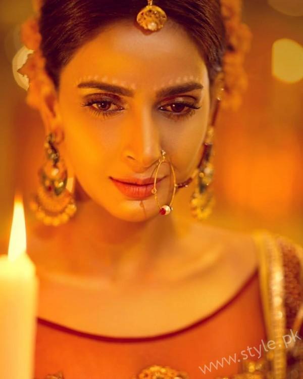 Saba Qamar Erum Khan Bridal Couture Campaign 2016-17 (9)