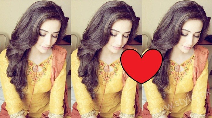 Sana Javed Yellow Outfit