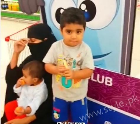 Veena Malik Dubai Mall in Abaya (4)