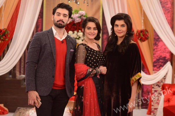 Aiman Khan and Muneeb Butt in Good Morning Pakistan (10)