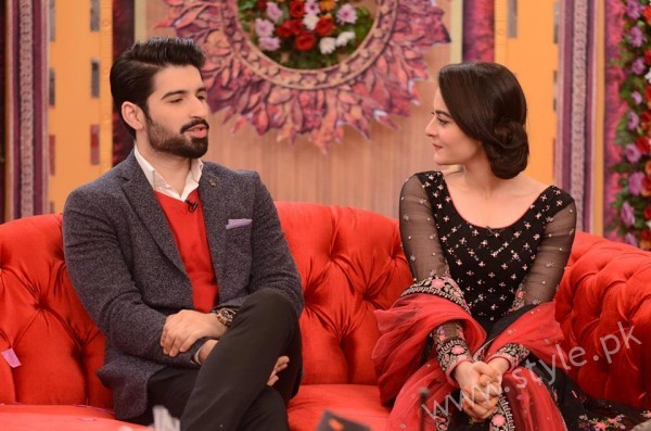 Aiman Khan and Muneeb Butt in Good Morning Pakistan (2)