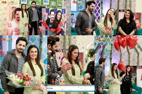 See Ayeza Khan's surprise Birthday Celebration in Morning Show 'Satrungi'