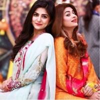 Benita David and Sanam Baloch