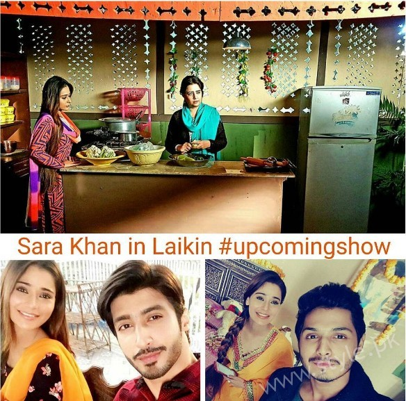 Pictures of Indian Actress Sara Khan from Set of her drama Laikin (11)