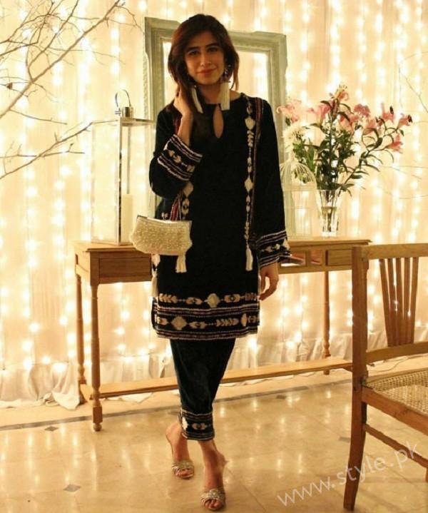Syra Yousuf at Palwasha Yousuf Engagement
