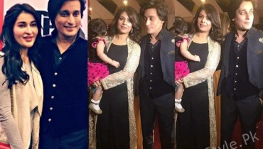 See Sahir Lodhi with his Wife and Sister at the Premiere of his Upcoming Movie Raasta