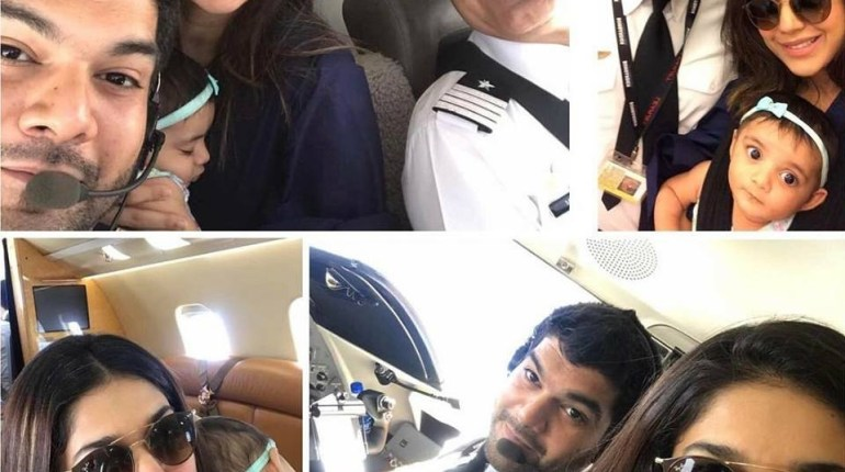 See Sanam Jung's flight with her Pilot Husband