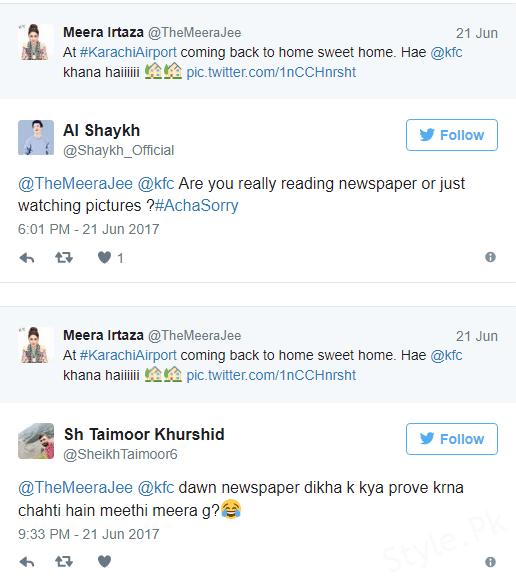 Twitter targeting Meera's English Yet Again