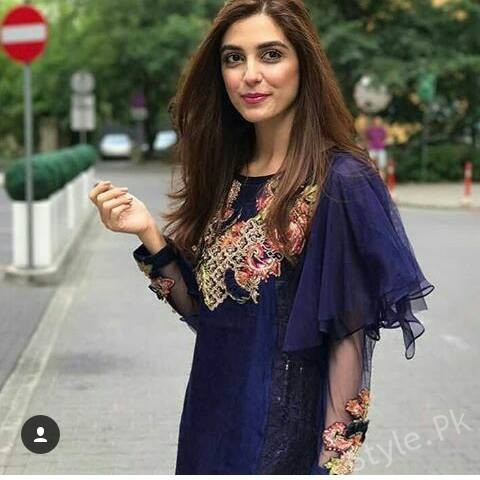 Maya Ali Celebrated Eid In Poland StylePk