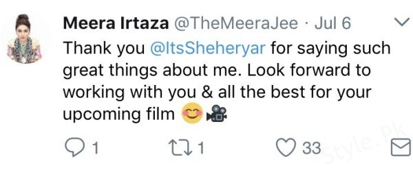 see Meera Jee Replies To Sheheryar Munawar