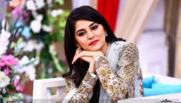 Sanam Bloch New Shoot On Set Of ARY News