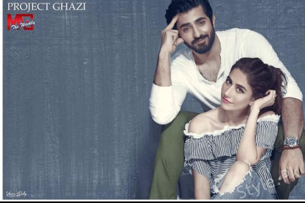 Syra Shahroz And Shehreyar Munawar Cover Shoot for Project Ghazi, Pakistani showbiz industry, Pakistani celebrities, Syra Shahroz