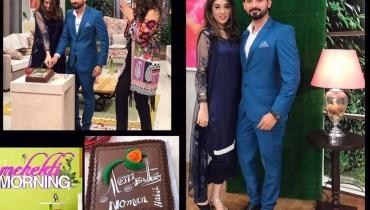 See Noman Habib Celebrated his birthday with Wife in Mehekti Morning