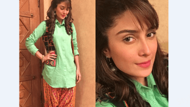 see Click Of Ayeza Khan On The Sets Of Mohabbat Tumse Nafrat Hai!