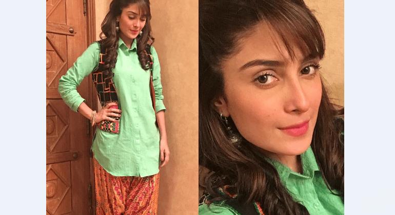 see Click Of Ayeza Khan On The Sets Of Mohabbat Tumse Nafrat Hai!