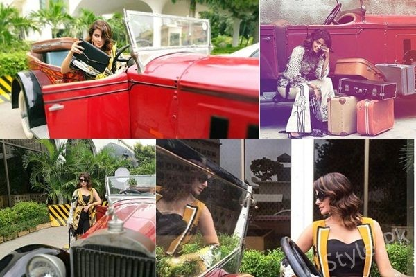 See BTS of Saba Qamar's Beautiful Shoot for Eram Khan Couture