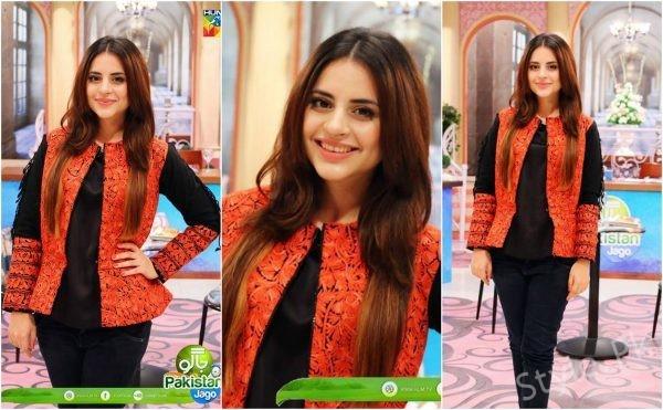See Fatima Effendi looks beautiful in Embroidered Jacket