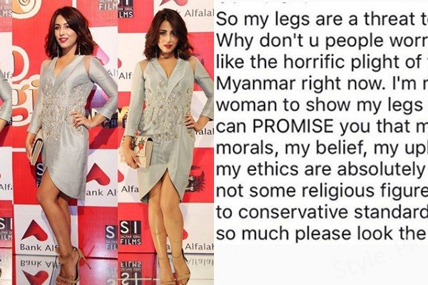 See Ushna Shah's Reply to Haters on being Criticized for her Nude Legs