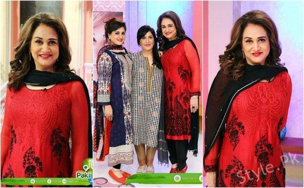 Beautiful Bushra Ansari with her Sisters in Sanam Jung's Show