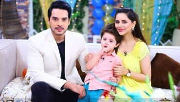 Fatima And  Kanwar's Son Alimir's Birthday Celebrations At Morning Show Of Sanam Baloch, pakistani celebs, pakistani celebrity