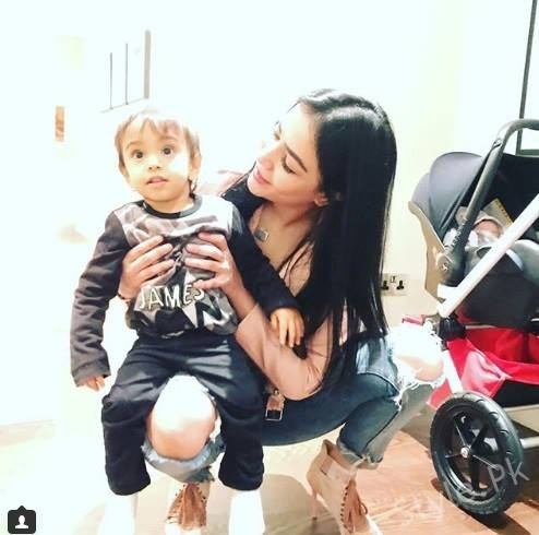 Humaima Malik with Salman Khan's nephew Aahil in London