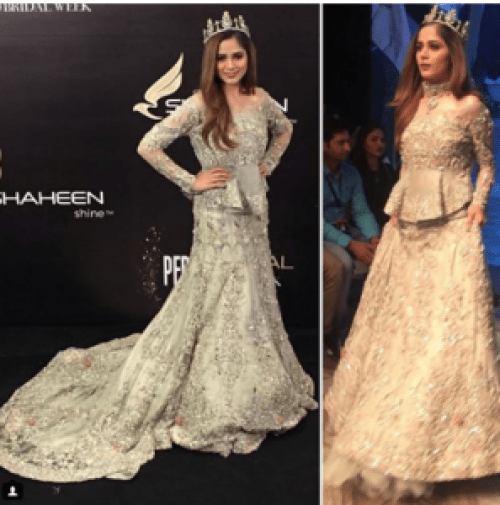 Aima Baig Showstopping For Ahmed Sultan At PLBW 2017